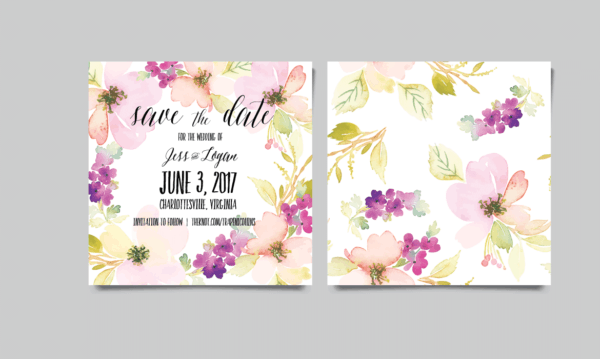 Stella Jackson Wedding Invitations Charlottesville Virginia